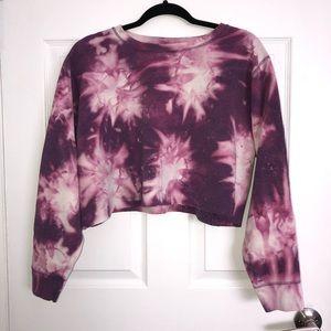 ‼️SOLD‼️🔥3/25🔥 Tie-dye Cropped Sweatshirt